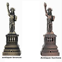 Wholesale The American Style Home Decor metal Crafts model The Statue Of Liberty Figurine Photography Props And Gifts souvenir cm