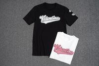 ingrosso rose giapponesi-T-shirt in cotone estivo di qualità superiore T-shirt in cotone con stampa ricamo, lusso bianco nero 8047