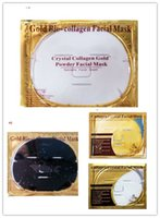 Wholesale Gold Collagen Face Mask Wholesale - Gold Bio-Collagen Facial Mask Face Mask Crystal Gold Powder Collagen Facial Masks Moisturizing Anti-aging beauty products in stock