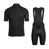 Wholesale Bike Cycling Clothing - RAPHA summer mens short sleeve cycling jersey bike wear Clothes bib SET MTB uniform PRO cycling clothing bicycle Maillot Culotte suit