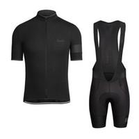 cycling achat en gros de-RAPHA été hommes manches courtes cyclisme jersey vélo vêtements Vêtements bavoir SET VTT uniforme PRO vêtements cyclisme vélo Maillot Culotte costume