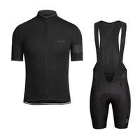 mtb mayo önlük toptan satış-RAPHA yaz mens kısa kollu bisiklet jersey bisiklet giyim Giymek bib SET MTB üniforma PRO bisiklet giyim bisiklet Maillot Culotte suit