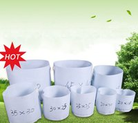 Wholesale grow large - 10 Size Option Non-Woven Fabric Reusable Soft-Sided Highly Breathable Grow Pots Planting Bag With Handles Cheap Price Large Flower Planter