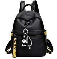 bolsos de tela casuales al por mayor-Nueva bolsa de hombro femenino Oxford paño marea coreana mochila salvaje moda casual bolso bolso 2018