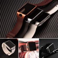 smartwatches iphone оптовых-Бесплатная доставка DZ09 Bluetooth смарт часы-телефон Mate для GSM SIM для Android для iPhone Samsung Huawei сотовый телефон 1.56 дюйма DHL бесплатная смарт-часах