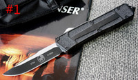 Wholesale Best Offers - Special Offer !10 Styles S E Best Automatic Knife Microtech Troodon Scarab Marfione Custom Troodon knives Halo V A07 Outdoor Knife Knives