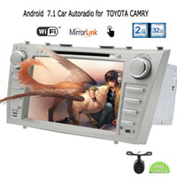 Wholesale android tv for camry online - Rear Camera EinCar Android Car Stereo Head Unit Double Din GPS Navigation Automotive car DVD Player for TOYOTA CAMRY in Dash Bluetooth