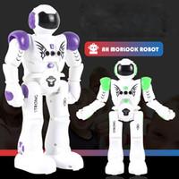 Wholesale walking talking - RC Intelligent Robot Remote Control Smart Programmable Robots Walk Slide Dance Music Talk Demostration Interactive Robot Toys OTH870