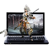 Wholesale Gaming Cpu - 15.6inch Intel Core i7 CPU 8GB RAM+240GB SSD+500GB HDD gaming laptops DVD-ROM Windows 10 Laptop Notebook Computer free shipping