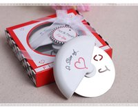 Wholesale Slice of Love Stainless Steel Pizza Cutter novelty wedding favors and gifts
