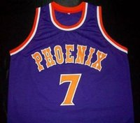 Wholesale phoenix color - PHOENIX SUNS KEVIN JOHNSON Throwback Basketball Jersey Men's Embroidery Stitched Custom any Number and name Jerseys