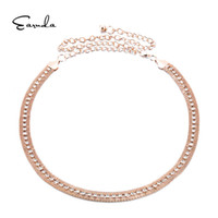 Wholesale rhinestone chain belts for women - Earnda Rhinestone Women's Chain Belt New Style Trend Metal Alloy Silver Waist Chain Female Elastic Stretch Belt For Dress Skirt
