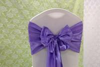 фиолетовые стулья для свадеб оптовых-Оптово-50шт # 117 Фиолетовый атласный стул для свадебных мероприятий