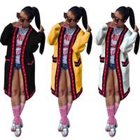 ingrosso cardigan lungo tappeto-African Women Fall Open Front Dashiki Classic Pocket manica lunga camicia lunga cappotto cardigan Drappo scialle