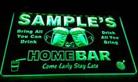 заказное пиво оптовых-LS582-g имя персонализированные пользовательские семья домашнее пиво кружка Ура бар пиво Неоновый сиг декор Бесплатная доставка Dropshipping Оптовая 8 цветов на выбор