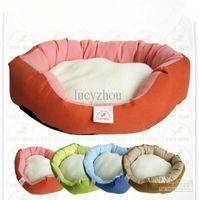 alfombra de lujo para mascotas al por mayor-Berber Fleece Luxury Dog House Warm Soft House Pet Dog Cat Cama Pet Mat Pad House Dog Nest 4 Color M, L Tamaño