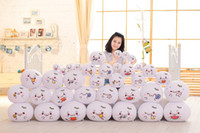 Wholesale hand warmer pillow - Smiling Face Back Cushion Children Plush Toy For Cartoon Emoji Hand Warmer Pillow Many Styles Yellow 5 5sw C R