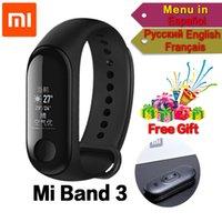 affichage de l'appelant achat en gros de-Original Xiaomi Mi Band 3 2 miband 3 2 Bracelet de remise en forme intelligent Bracelet 5ATM Étanche 0.78 OLED Écran Tactile Identification de l'appelant