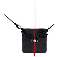 relógio mãos envio gratuito venda por atacado-Diy Quartz Mecanismo de Movimento Do Relógio de Longo Eixo Vermelho Mãos Reparação DIY Kit Set Relógio Acessórios Frete Grátis ZA5894
