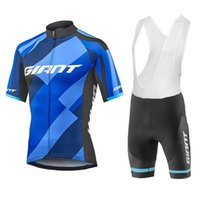 Wholesale giant team cycling bicycle jerseys online - 2018 giant team Summer Pro sporting Racing bike clothes quick dry cycling jerseys Ropa Ciclismo MTB bicycle clothing A1002