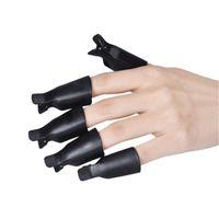 свободные обертывания для ногтей оптовых-Nail Art инструменты пластиковые гель польский Soak Off Remover Caps клип УФ-гель для снятия лака Wrap инструмент многоразового использования ногтей Soaker Caps бесплатная доставка