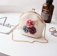 Wholesale dot string online - Shoulder messenger bags are all match chain clip mouth bag purse bag bag