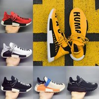 Wholesale Womens Size 11 Shoes - 2018 NMD Human Race Trail Mens womens Pharrell Running shoes Yellow White Core Black Pale Nude Nerd Sports Fashion sneakers Big size 5-11