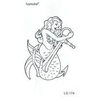 anker-aufkleber-tattoo großhandel-100 stücke Schönheit Meerjungfrau Wasserdicht Temporäre Tattoos Männer Anchor Fake Tattoo Die flash Tattoo Temporäre Aufkleber