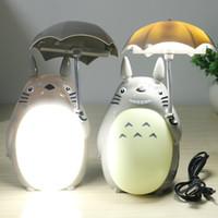 Wholesale Desk Novelty Gifts - Kawaii Cartoon My Neighbor Totoro Lamp Led Night Light USB Reading Table Desk Lamps for Kids Gift Home Decor Novelty Lightings