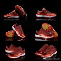 """Wholesale Famous Red Wines - Famous Brand Cheap 11 Velvet """"Heiress"""" Wine Red Basketball Shoes For Women&Men Low 11s XI Athletics Sneakers Size Eur 36-47"""