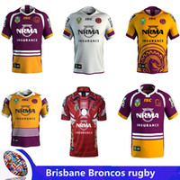 Wholesale yellow stockings - BRISBANE BRONCOS 2018 INDIGENOUS JERSEY Brisbane Rugby jersey broncos best quality New in stock 2017 rugby shirts size S - 3XL