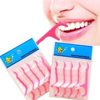 Wholesale floss picks for sale - Group buy High quality Plastic Toothpick Floss Picks Clean Teeth Toothpicks Stick Flossers Toothpicks Floss packing T2I098