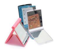 ingrosso specchiere tasche-Il più popolare specchio tascabile HD per trucco a LED con 8 luci a led e dimmer intelligente touch screen