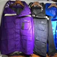 chaqueta de pasarela al por mayor-Moda Catwalk Parker Chaqueta con capucha Diseño de lujo a prueba de viento Street Prendas de abrigo Casual Simple Primavera Otoño Abrigo de viaje al aire libre HFYMJK095
