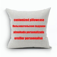 Wholesale Printing Text - Custom Designs Linen Pillow Cover Print With Your Pictures Texts Designs Photos Unique DIY Square Throw Pillowcase for Gift