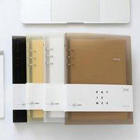 cadernos escola bonito venda por atacado-A5 Diário Notebook Grade de Papel Em Branco Organizador Planejador Diário Agenda bonito escritório escola caderno espiral papelaria