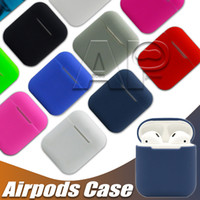Wholesale For Apple Airpods Silicone Case Soft Shockproof Cover For Apple AirPods Earphone Cases Ultra Thin Air Pods Protector Case