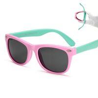 5cfe5d7b72422 Crianças Óculos de Sol Polarizada Criança Bebê Ralferty TR90 Flexível  Revestimento de Segurança Óculos de Sol UV400 Eyewear Shades Infantis oculos  de sol