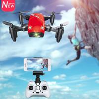 hd fpv großhandel-S9 S9HW Mini Pocket Drohnen Mit HD Kamera / Keine Kamera RC Hubschrauber Faltbarer WiFi FPV Drone RC Quadcopter Drohne VS XS809hw JXD 523W
