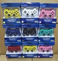 Wholesale P S controllers Wireless Controller Game Controllers Double Shock for PS3 portable video game palyer Game Console