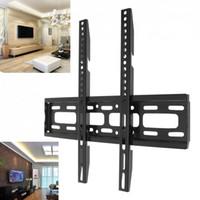 wandhalter großhandel-Universal 50KG TV Wandhalterung Fixed Flat Panel TV Rahmen Ständer Halter für 26-65 Zoll Flachbildschirm Plasma LCD LED Monitor