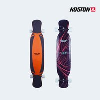 tabla de skate de arce al por mayor-Koston Double Rocker Professional Long Board Deck / completa Skateboard BambooCanadian Maple Mixed 44.88 Inch Skateboard LB024-2