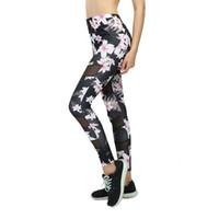 ropa de correr sexy al por mayor-Pantalones de yoga de nueva impresión Mujeres Leggings de fitness únicos Entrenamiento Deportes Running Leggings Sexy Push Up Gym Use pantalones elásticos delgados