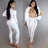 Wholesale Cross Leggings Xl - New Sexy Women's Skinny Pants Band Slim Wearing Leggings Women Outside Fashion Pants