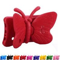 schmetterlingsschocks großhandel-Butterfly Kids Shock Proof Foam EVA-Griff Standschutzhülle für Samsung Galaxy Tab 3 Lite T110 / Tab 4 T230 T231