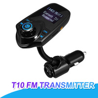 Wholesale mp3 usb music player lcd resale online - T10 Car MP3 Audio Player Bluetooth FM Transmitter USB Port Charger With LCD Display Support TF Card MP3 Music Player With Retail Package