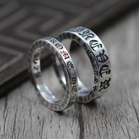925 thai großhandel-925 Sterling Silber Schmuck Persönlichkeit für immer Paar Bezieht sich auf Ring Thai Silber Retro Einzigartiger Ring
