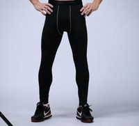 Wholesale pants cotton resale online - mens compression pants sports running tights basketball gym pants bodybuilding joggers skinny leggings trousers Full Length