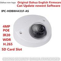 dahua ip dome kamera großhandel-Freies Schiff Dahua englische Version 4MP IPC-HDBW4431F-AS IP Kamera IK10 IP67 eingebaute MIC SD Kartensteckplatz Mini Dome Netzwerk CCTV Cam