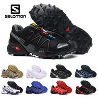 zapatos corrientes masculinos al por mayor-2018 New Salomon Speed Cross 3 CS III exterior para hombre Camo Rojo Negro Zapatillas deportivas para hombre Speed Crosspeed 3 zapatillas eur 40-46